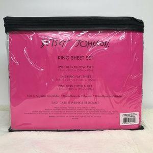 Betsey Johnson Bedding - Betsey Johnson Rose Pose 4 Piece King Sheet Set
